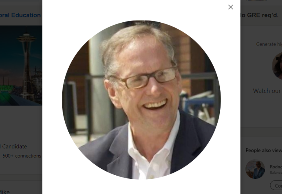 caption: Mike McQuaid's profile image on LinkedIn. McQuaid withdrew from a city council race on Monday, March 1, 2021.