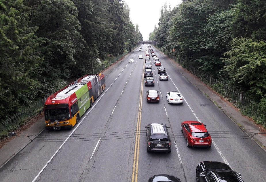 North Seattle traffic headed for downtown in the fall of 2018.