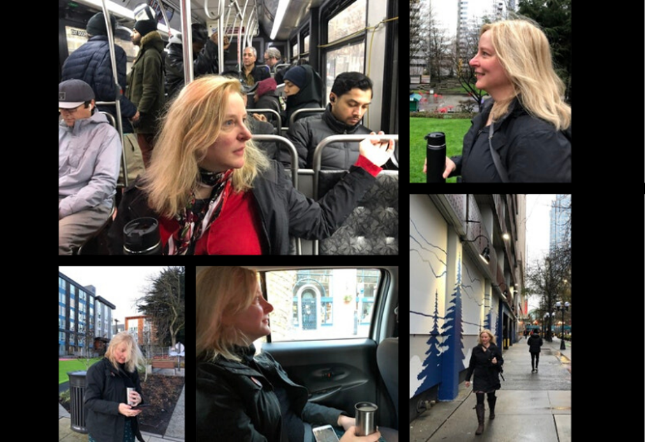 Liz MacGahan on some of her many commutes to work in downtown Seattle