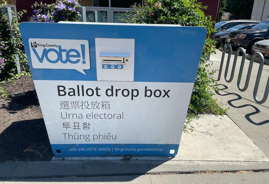 caption: Ballot drop box in South Park