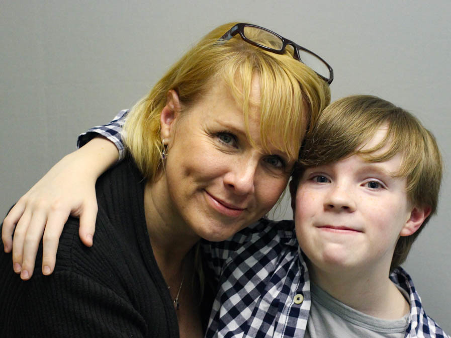 Jennifer Sumner And Her Son Kaysen Ford Embrace At Their Storycorps Interview In