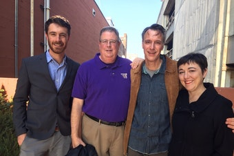 David Kroman, Chris Vance, Bill Radke, Erica Barnett [L-R]