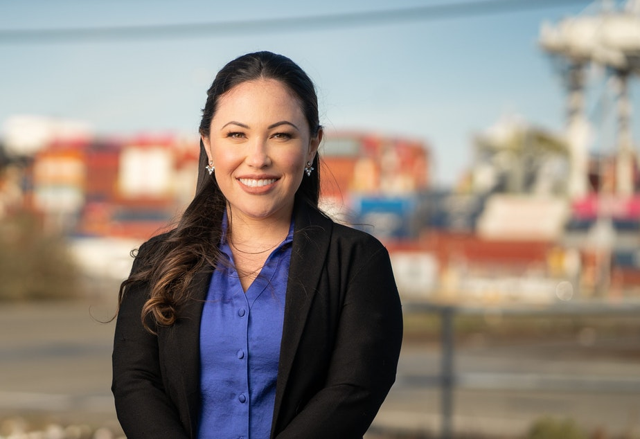 caption: Toshiko Grace Hasegawa is running for Port of Seattle Position 4.