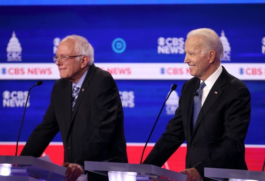 caption: Bernie Sanders and Joe Biden are adapting to the spread of the coronavirus by changing campaign schedules. Louisiana is delaying its primary by more than two months over coronavirus fears.