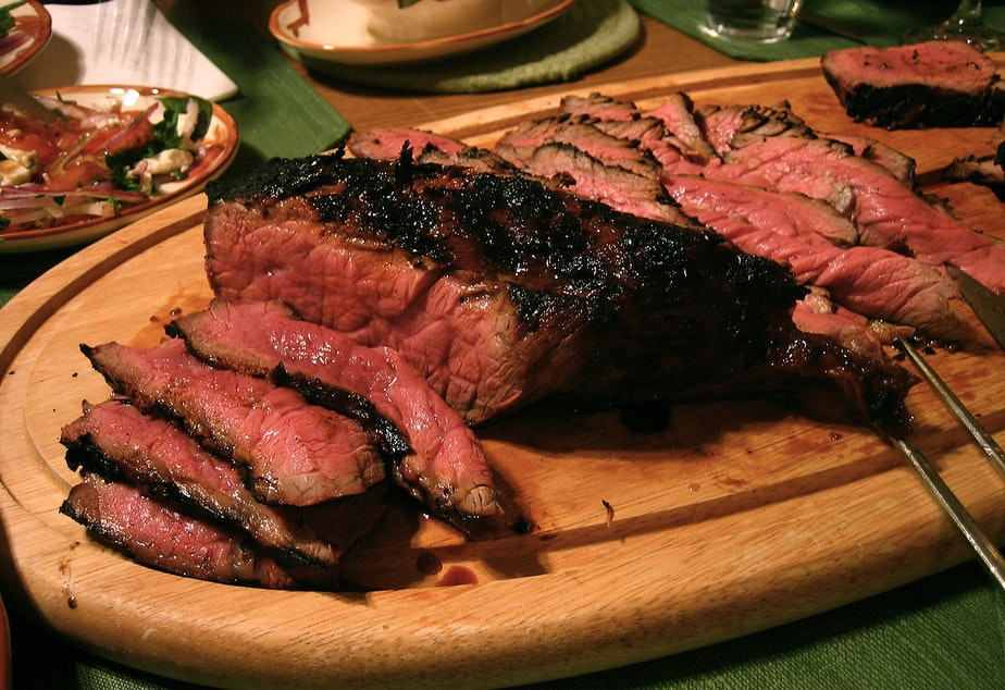London broil, a beef dish.
