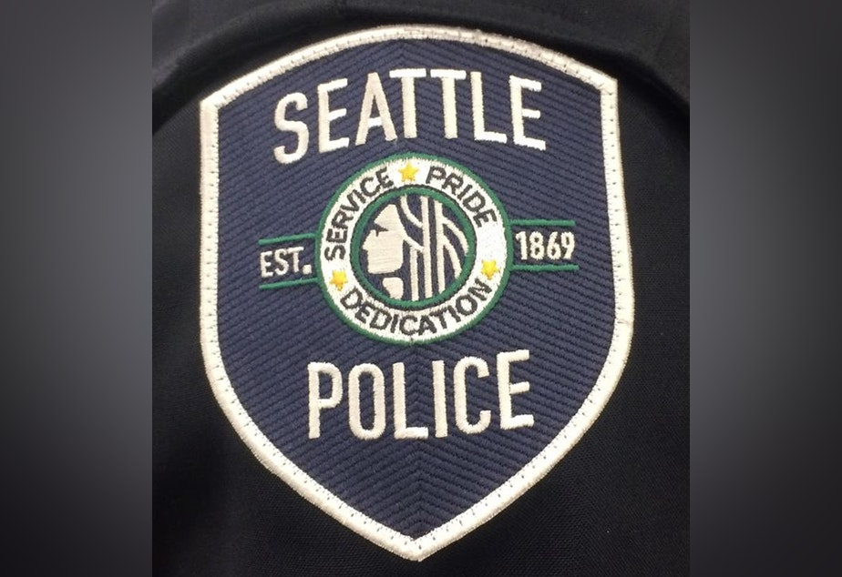 caption: Seattle Police Department patch.