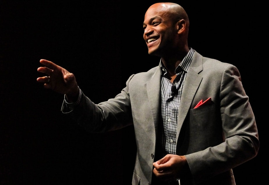 Author Wes Moore takes questions at an event with the American Library Association in January 2014.