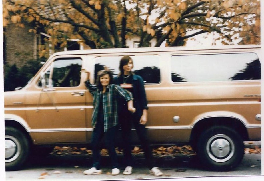 caption: Jay Cook and his mom, Lee, in front of the family's Ford van. Jay Cook and his girlfriend Tanya van Cuylenborg were killed in 1987. A suspect was identified in 2018.