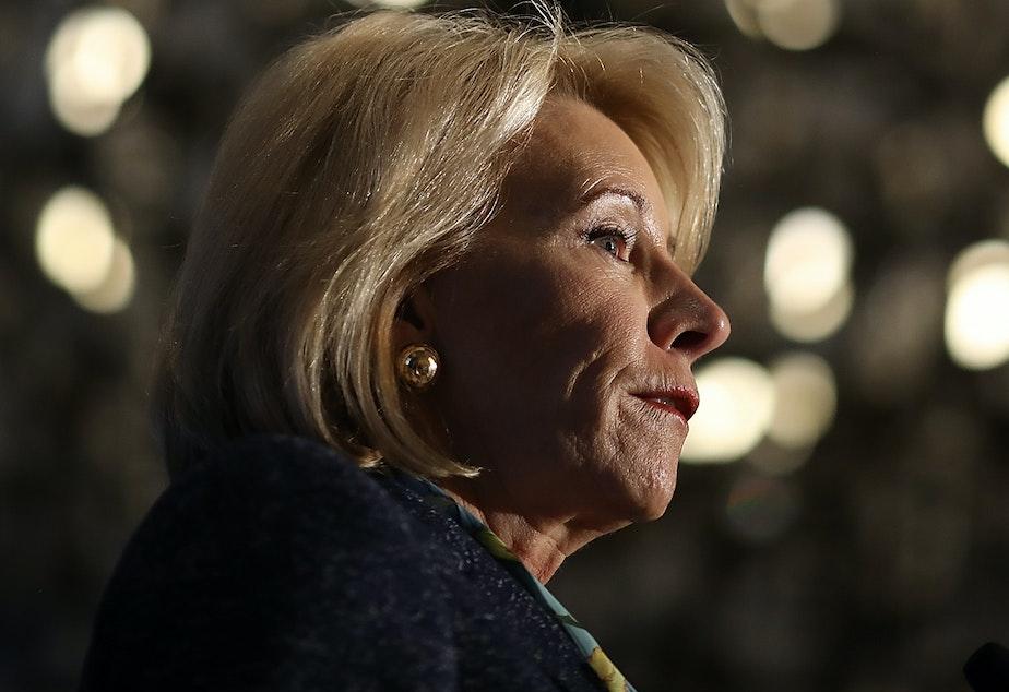 caption: U.S. Education Secretary Betsy DeVos