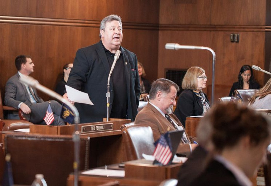 caption: Former Oregon Senate Minority Leader Ted Ferrioli asked his staff in 2016 to come up with ways to waylay Democratic bills.