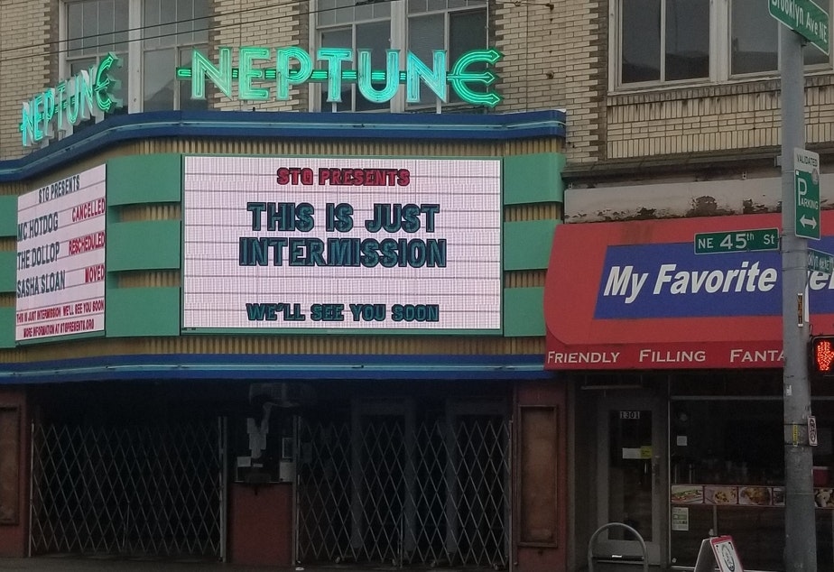 caption: STG's Neptune Theatre among Seattle organizations closed for business