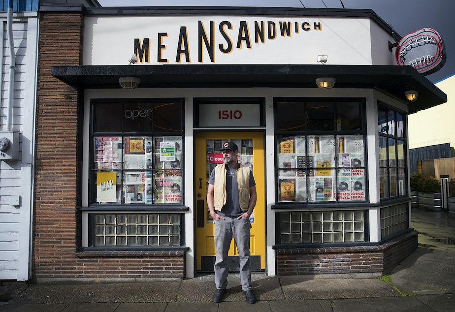 caption: Dan Crookston is the owner of Mean Sandwich in Ballard.