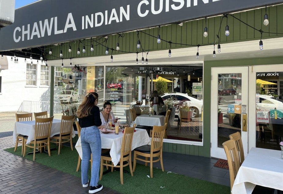 caption: Chawla Indian Cuisine on Bellevue's Main Street