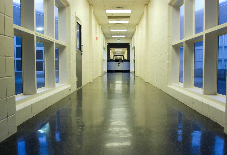 A main corridor at the King County Juvenile Detention in Seattle's Central District. This building will be demolished after the new facility is constructed.