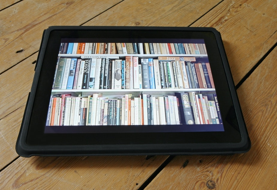 caption: Physical books may be more difficult to obtain for free these days, but the nonprofit Internet Archive is trying to keep digital bookshelves stocked through the end of the national coronavirus crisis.