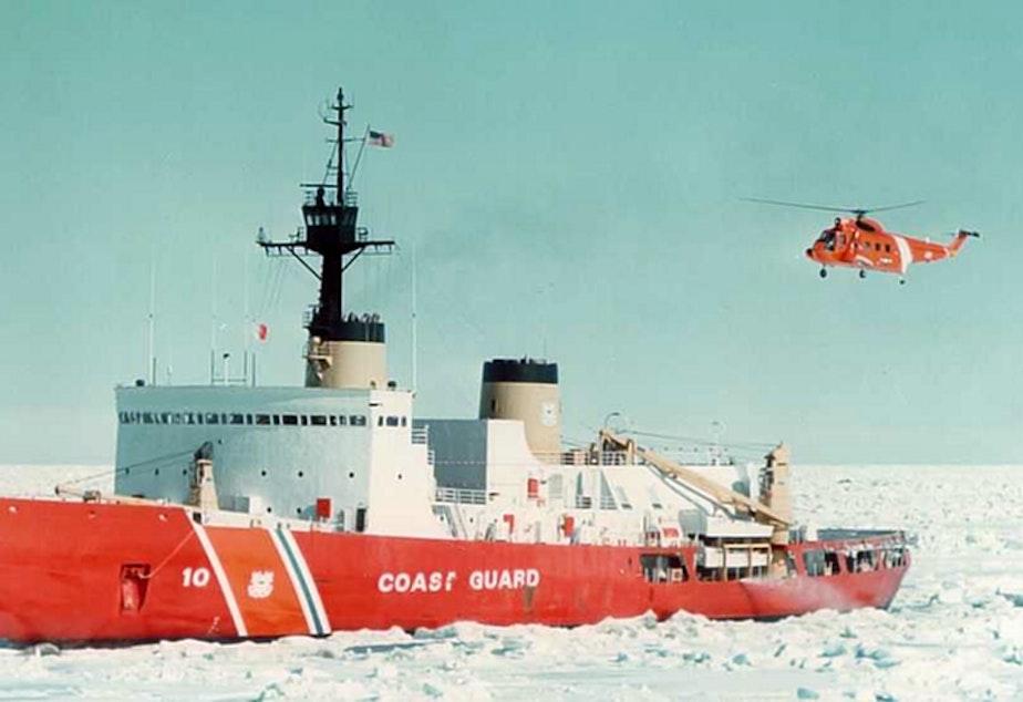caption: The US Coast Guard vessel Polar Star.
