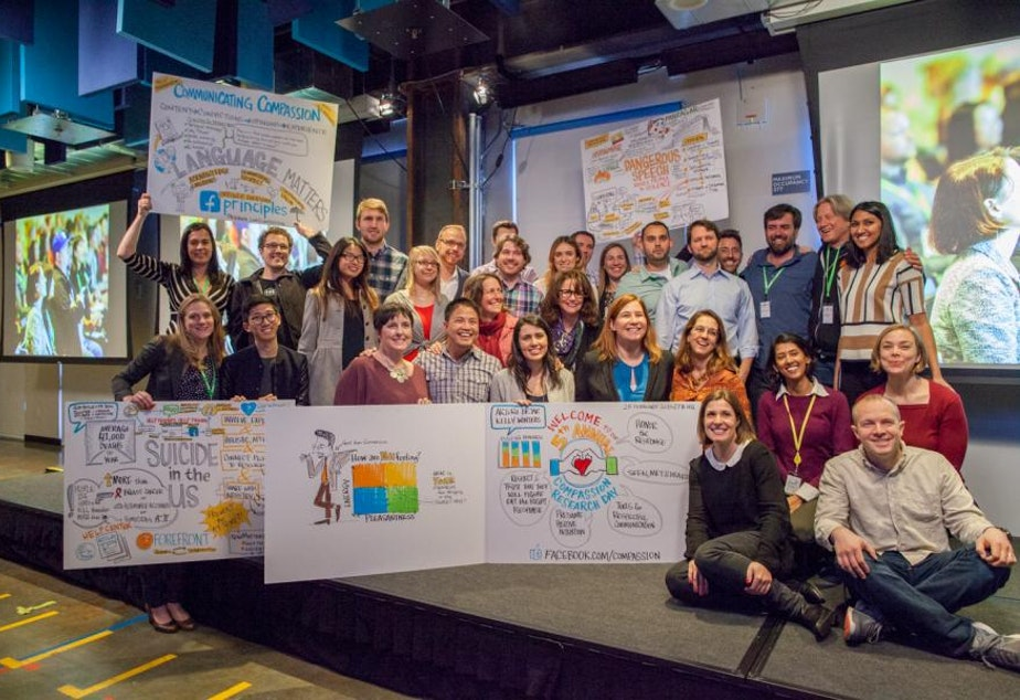 Participants at the 5th annual Compassion Research Day at Facebook's headquarters in Menlo Park, California. Facebook unveiled new tools on Feb. 25 to help prevent suicide.