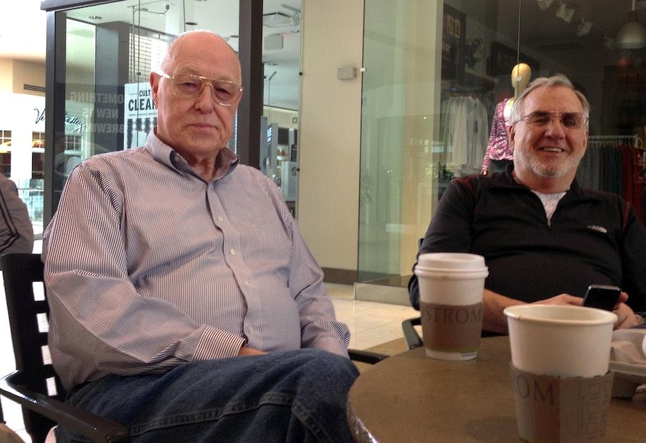 Jon Tucker (left), 76, has been a regular mall walker for 10 years.