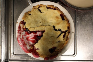 Sylvia and Ernie would have made a prettier pie, but this one, made by a crust novice, was amazingly delicious.