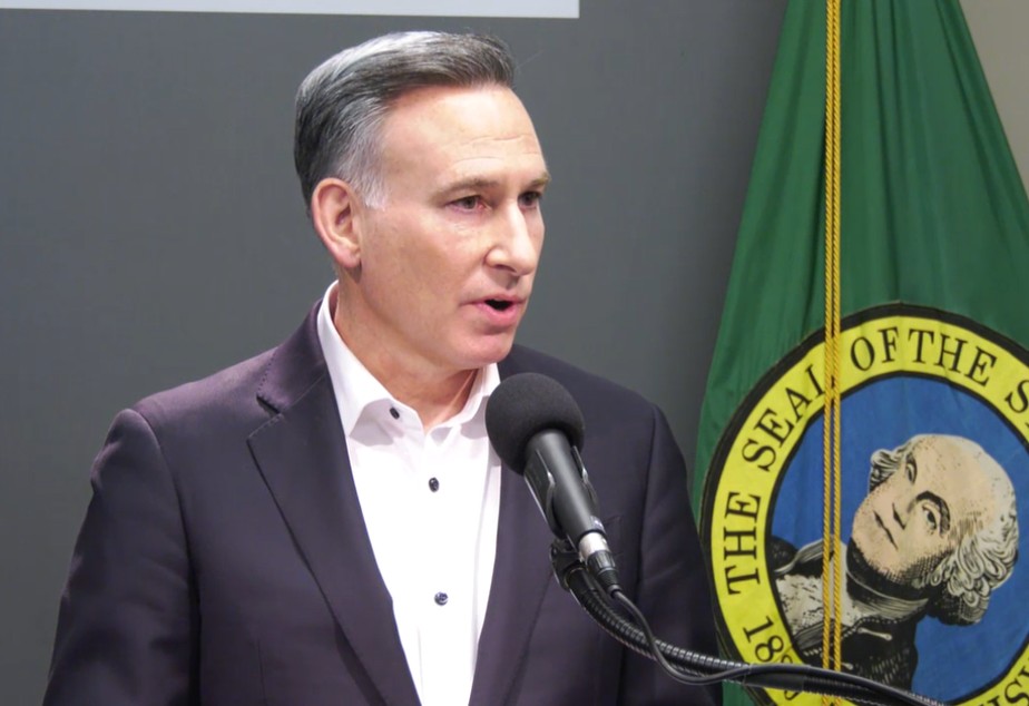 caption: King County Executive Dow Constantine speaks at a media briefing on the region's COVID-19 outbreak, Wednesday, March 4, 2020.