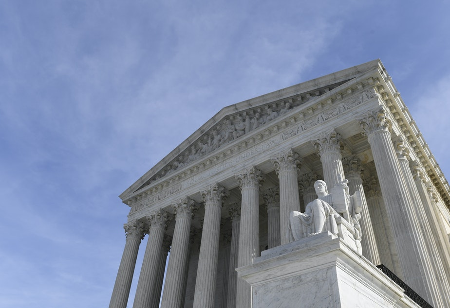 A view of the Supreme Court in Washington, D.C., on Monday, Nov. 11, 2019. Protections for 660,000 immigrants are on the line at the Supreme Court. (AP Photo/Susan Walsh)