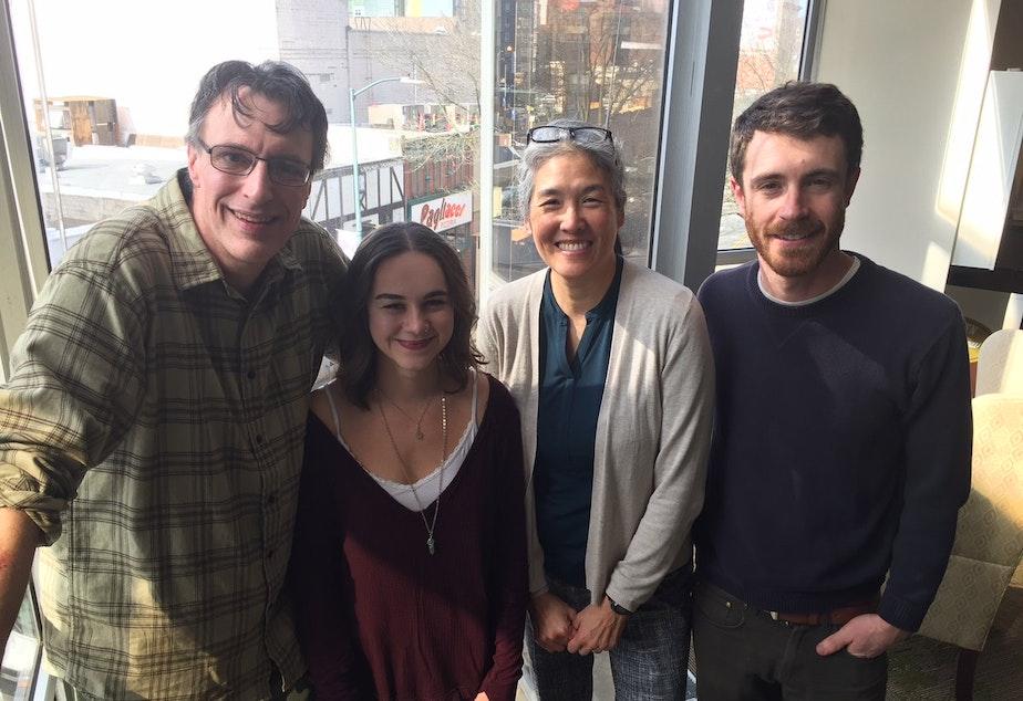 L-R: Bill Radke, Monica Nickelsburg, Deborah Wang, David Kroman