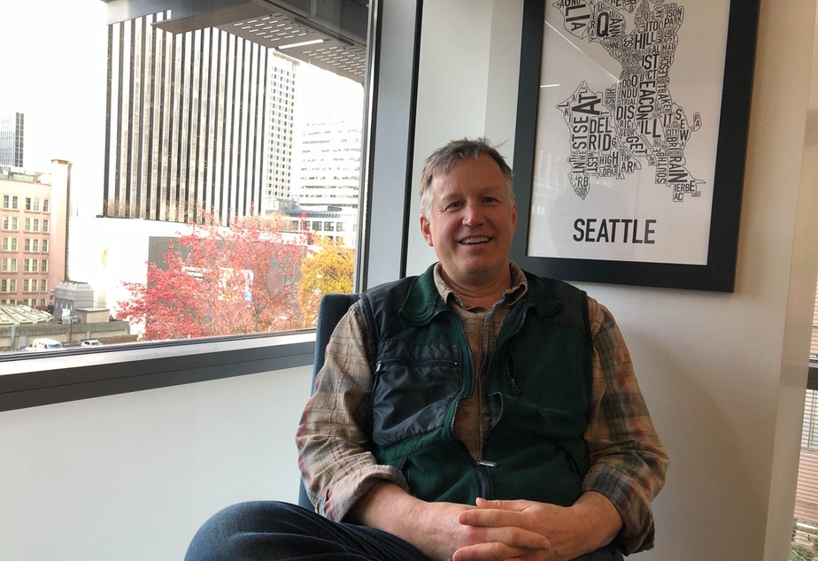 caption: Departing Seattle Councilmember Mike O'Brien says he has no future plans, but is interested in working on climate or homelessness issues.