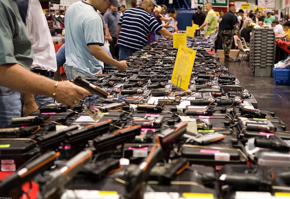 File photo of a gun show.