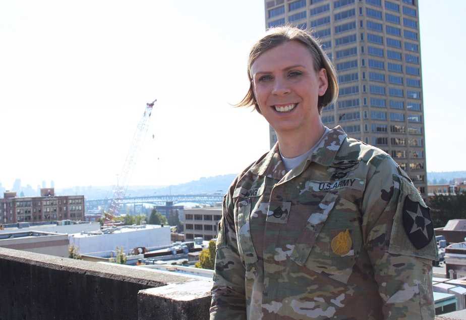 caption: Staff Sgt. Patricia King serves at Joint Base Lewis-McChord