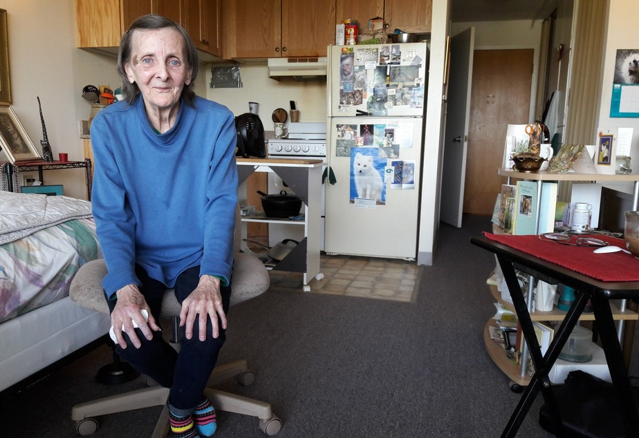 Victoria Marshall is one of hundreds of seniors who live in subsidized senior housing just off Aurora. She has a view of the lake, but says she feels profoundly disconnected from civic and cultural life.