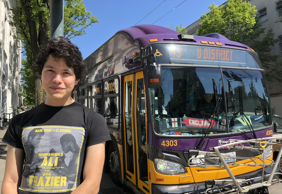 Filmmaker, writer, photographer, and King County Metro Transit bus driver Nathan Vass.