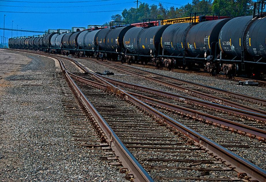 caption: File photo of an oil train.