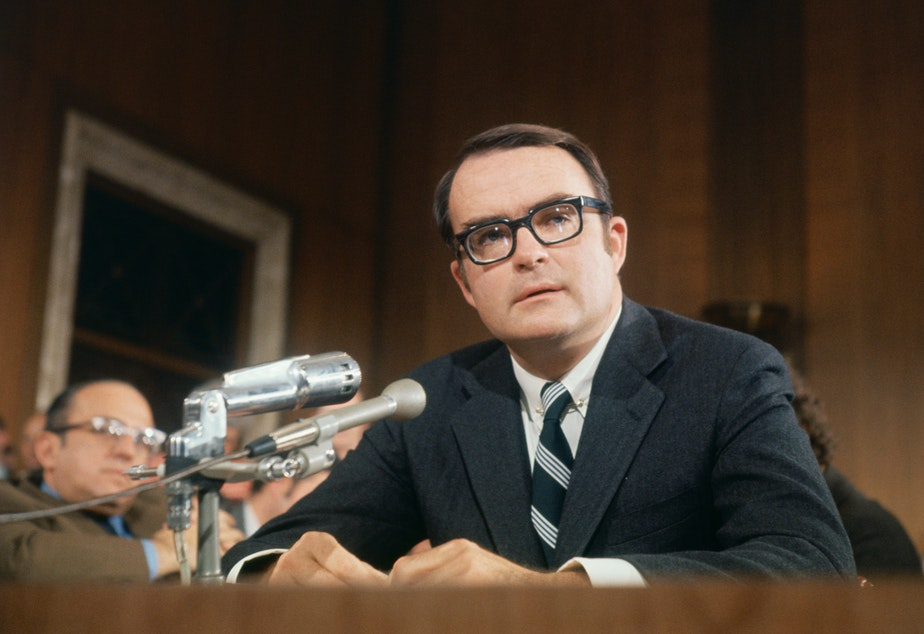 caption: Washington, D.C.: William D. Ruckelshaus, director of the Environmental Protection Agency.