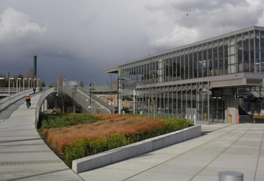 caption: LMN Architects worked on the light rail station at the University of Washington's Husky Stadium. Cary Moon's husband is an LMN partner.