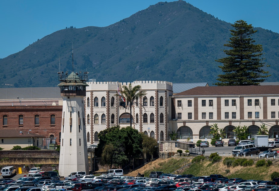 caption: San Quentin State Prison in California is among several across the U.S. that have experienced coronavirus outbreaks.