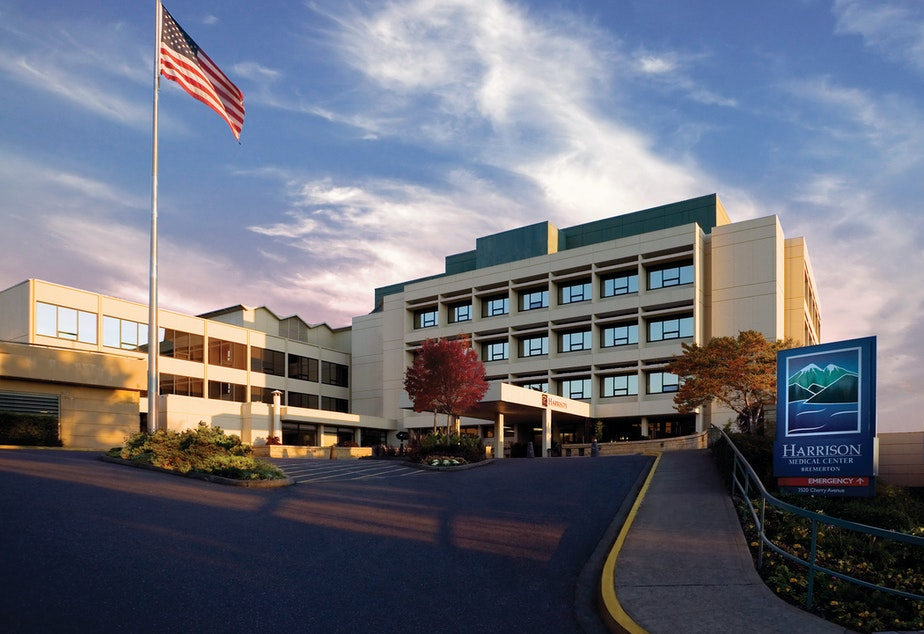 caption: Bremerton's St. Michael Medical Center, formerly known as Harrison Medical Center