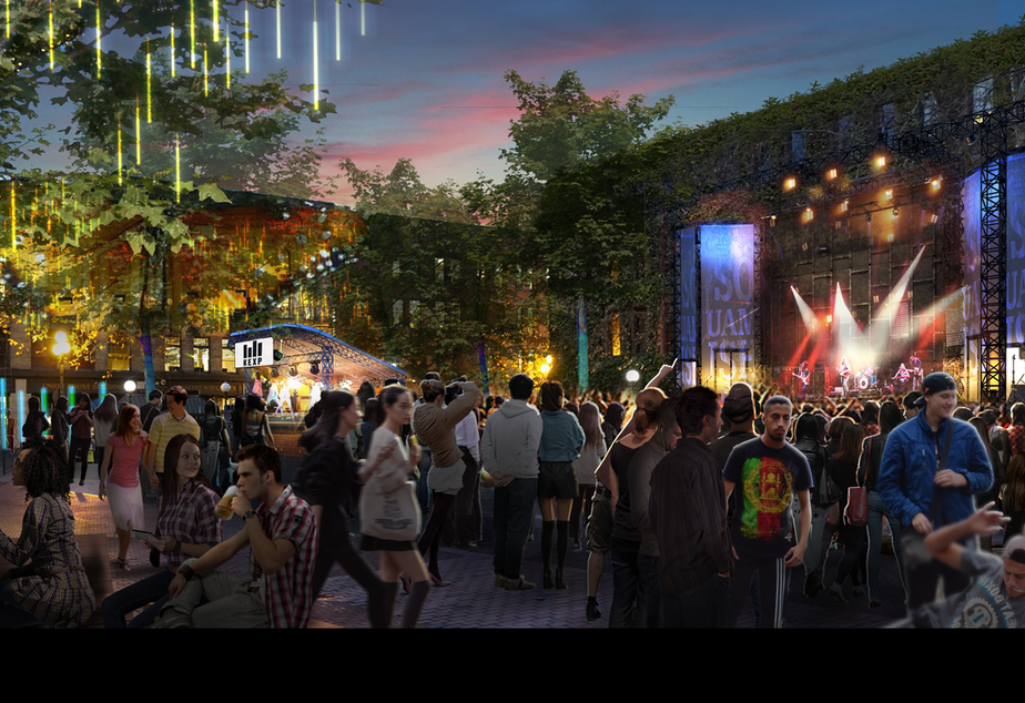 A conceptual rending of what the Upstream Music Fest will look like.