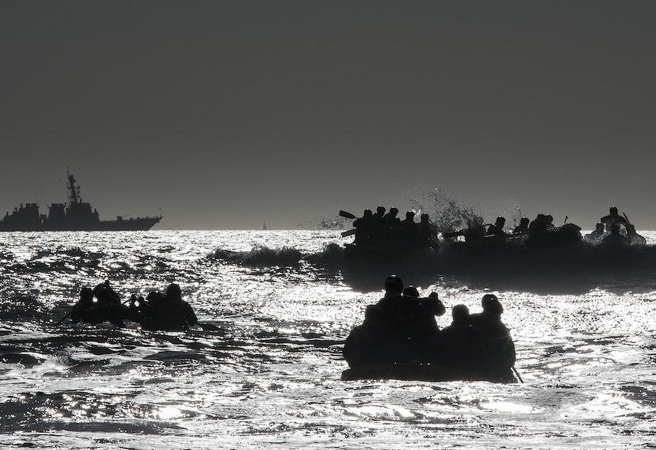 U.S. Navy SEAL candidates train off San Diego in 2018