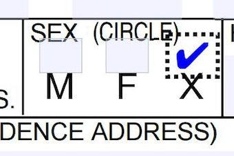 The non-binary option on Oregon's driver license application.