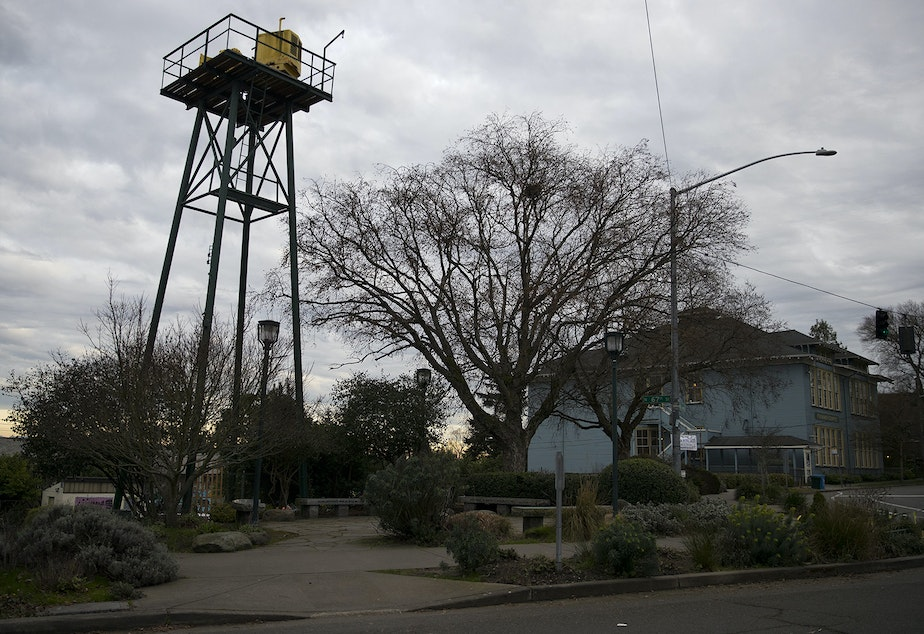 caption: An air raid siren is shown on Thursday, January 31, 2019, in Phinney Ridge. KUOW Photo/Megan Farmer