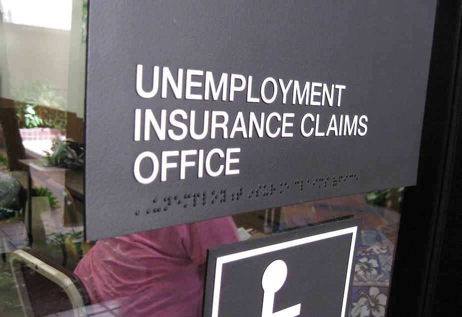 caption: Unemployment claims spike
