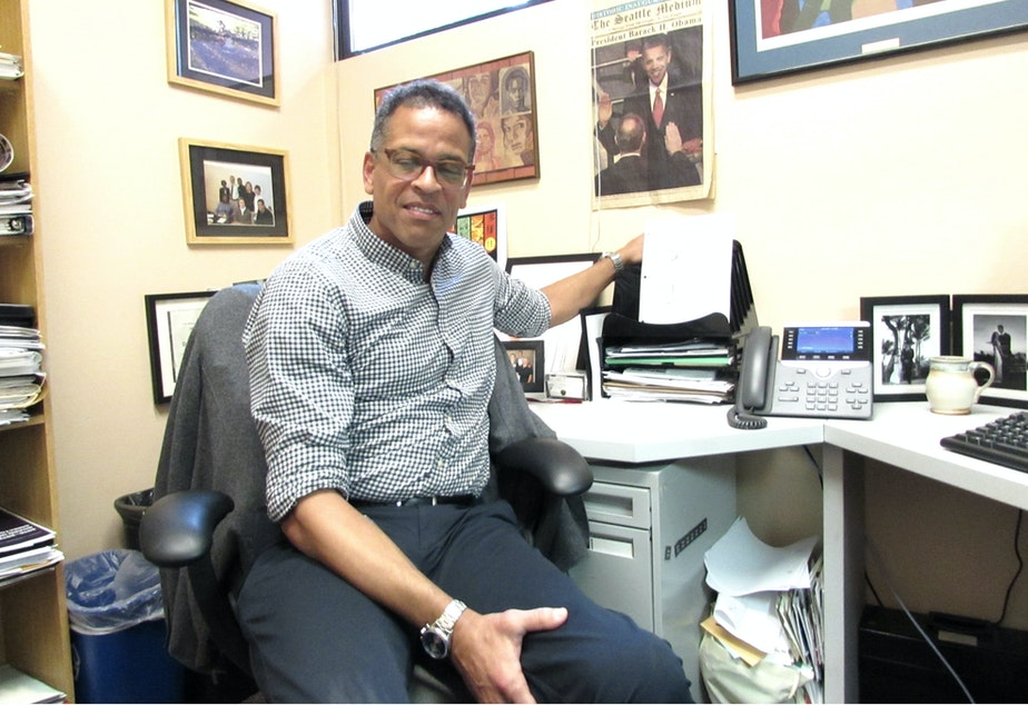 Dr. Ben Danielson in his office at the Odessa Brown Children's Clinic in Seattle's Central District.