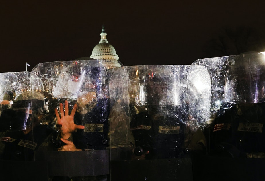 caption: Capitol Police Chief Steven Sund resigned after thousands of supporters of President Trump stormed the U.S. Capitol building on Wednesday. Sund says his requests to superiors to get the National Guard to respond to the riot at the Capitol were rebuffed.