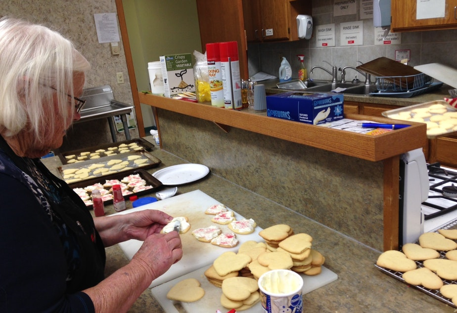 Irma Erickson helps bake cookies for those affected by the Marysville-Pilchuck High School shootings.