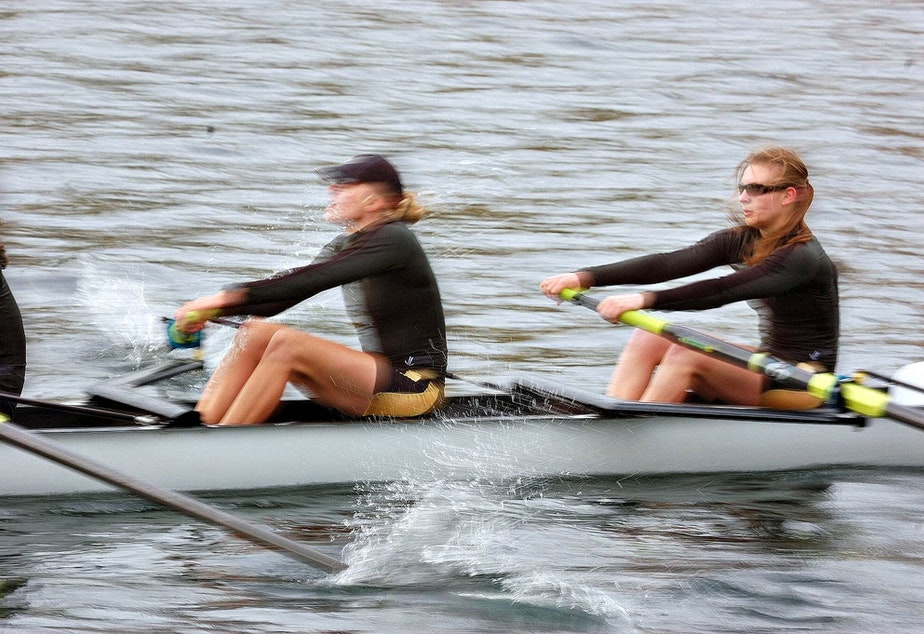 caption: File photo of rowers.