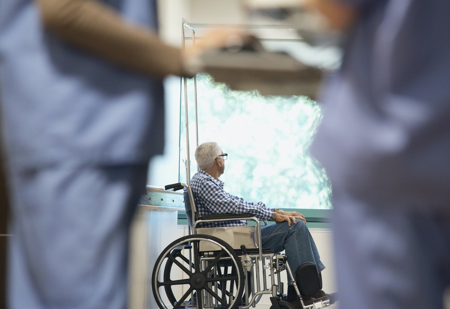 caption: In late 2019, the patient's choice to move to an assisted living facility seemed like a good idea — a chance for more social interaction and help with meals and medical care.