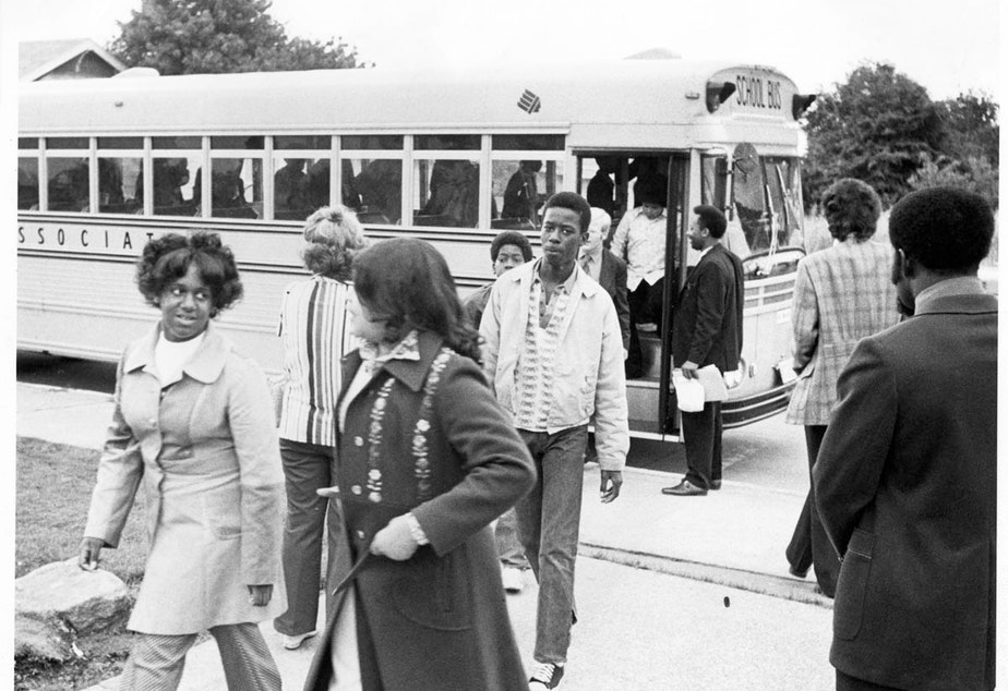 As part of a Seattle Public Schools program, students were bused from different neighborhoods to improve racial mixes.