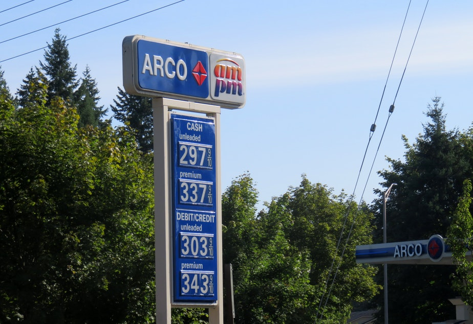 caption: A mass mailing of settlement checks meant it was Christmas in midsummer for drivers who filled their tanks at Oregon ARCO stations in 2011-13.