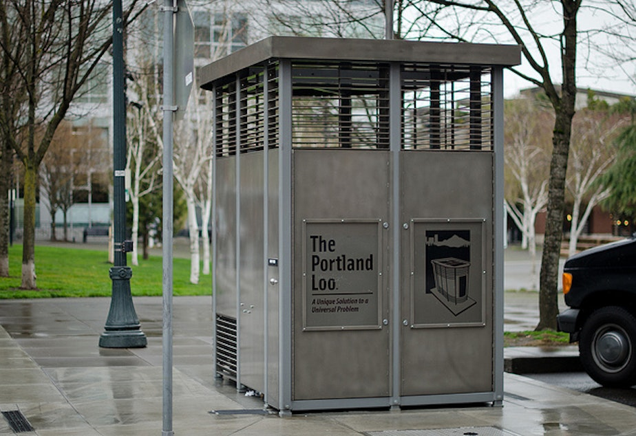 caption: The Portland Loo, an example of a public restroom from our neighbors in Oregon.