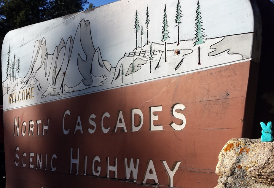 caption: Locals are celebrating the early opening of the North Cascades Highway this year.